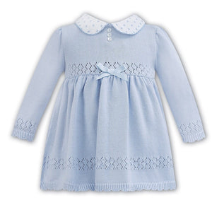 Sarah Louise Blue knitted Dress 0113131