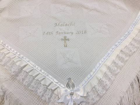 Personalised Christening Shawl