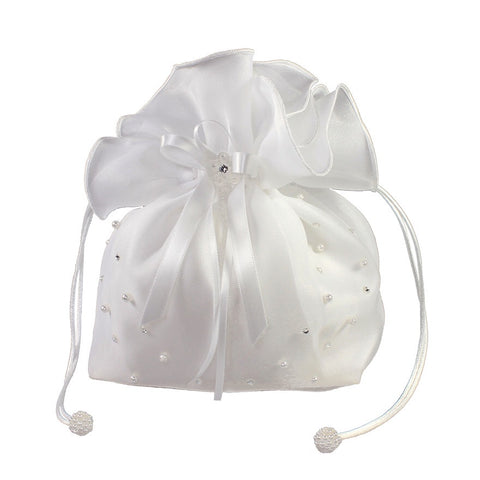 Linzi Jay Organza Dolly Bag with Pearl and Diamante