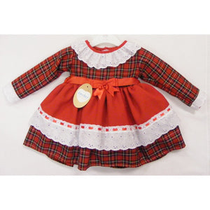 Kinder Collection tartan spanish style dress.