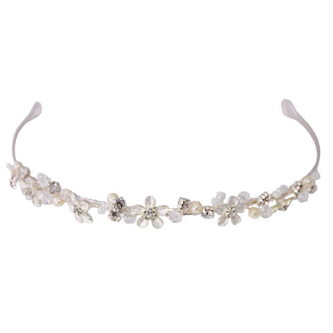 Linzi JayLM231 Flower Beaded Headband