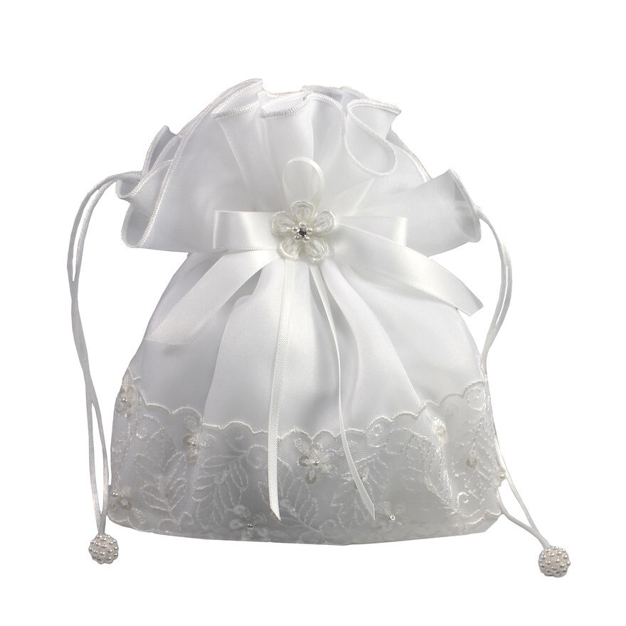 Linzi Jay Organza & Beaded Lace Dolly Bag