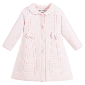 Sarah Louise Pink Knitted Coat 08063
