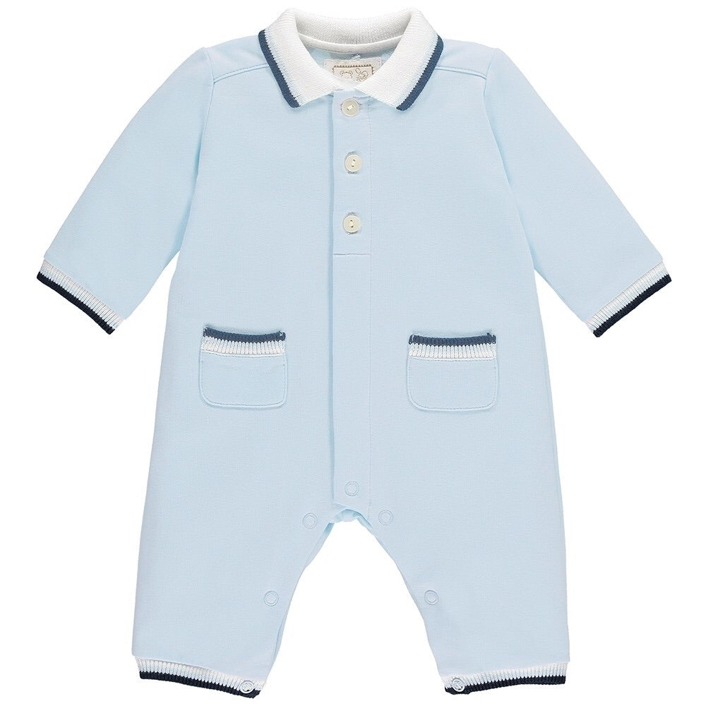 EMILE ET ROSE BABY BOYS BLUE SMART OUTFIT WITH SOCKS