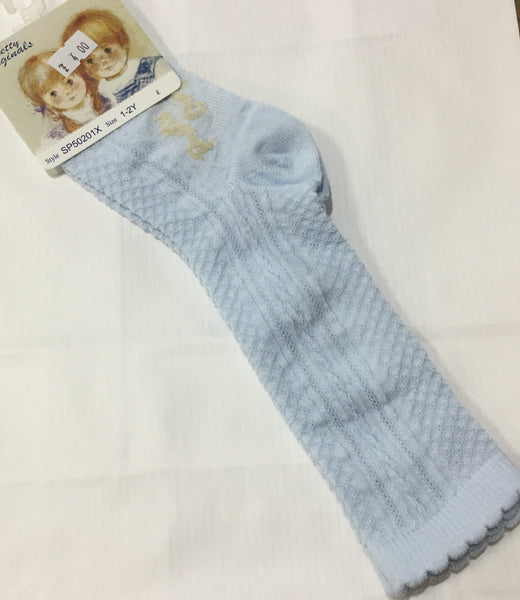 Pretty Original knee high socks cable knit pattern