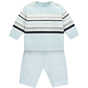 Emile et Rose MATT BABY BOYS STRIPED JUMPER OUTFIT IN