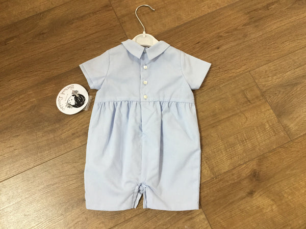 Sarah Louise Baby boys all in one romper blue
