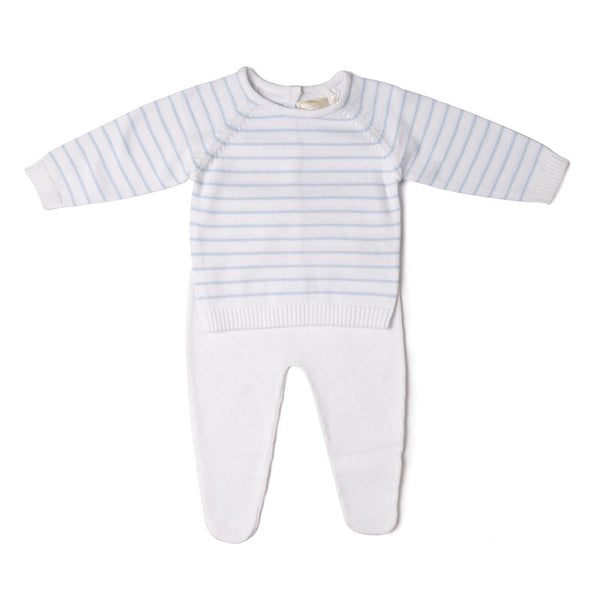 Boxed striped knitted 2 piece set