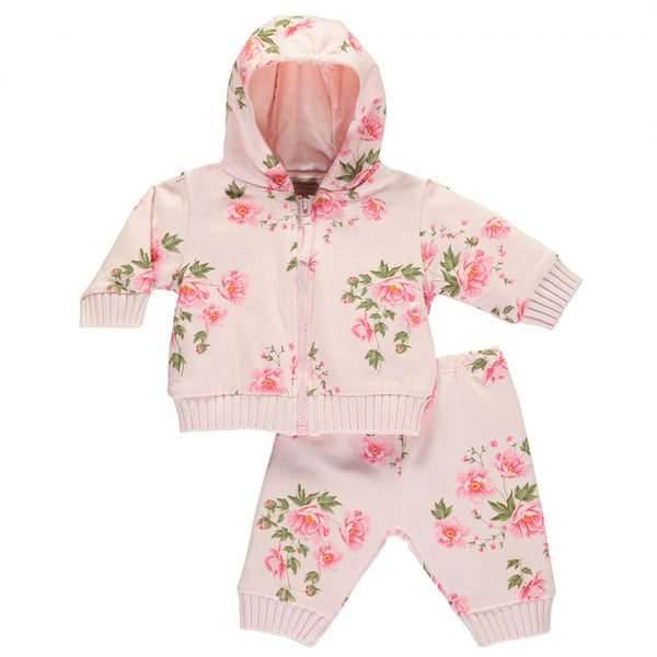 Emile et Rose Lauren Floral Printed Zip Up Hoodie & Trouser Set