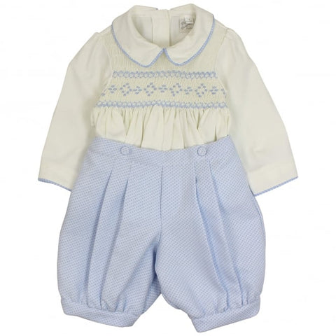 Pretty Originals smocked shirt and shorts