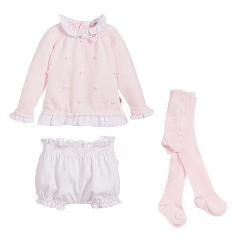 Tutto Piccolo Pale Pink  3 Piece Outfit Set