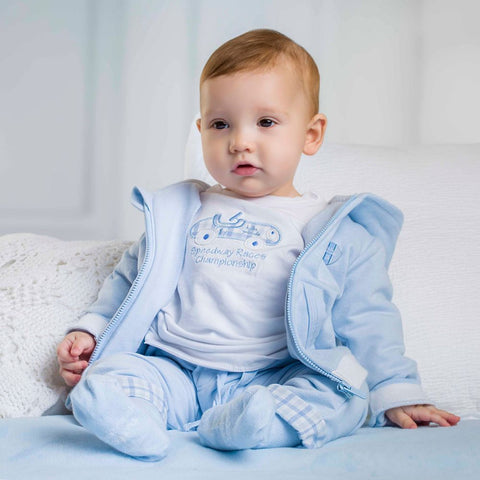 Tutto Piccolo Pale Blue  3 Piece Jogger Suit