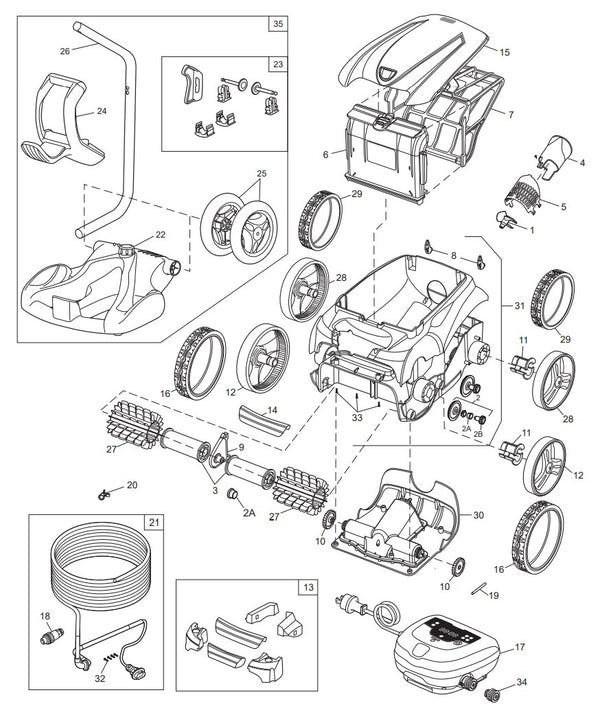 9350 Sport Pool Cleaner Parts