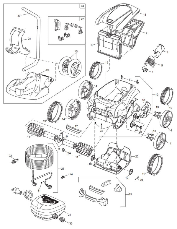9450 Sport Pool Cleaner Parts