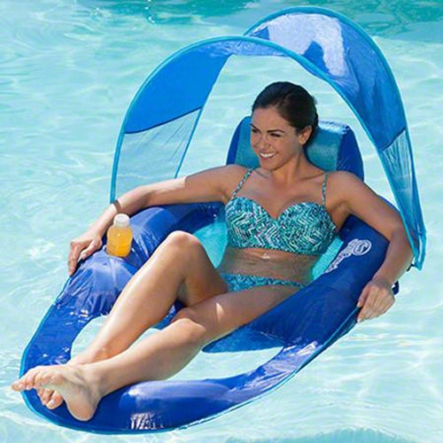 Swimways Spring Float Recliner With Canopy 13022 Sunplay
