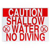 Poolmaster Shallow Water No Diving Sign 40341 - Sunplay