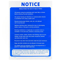 Poolmaster Regulations For Use of Public Pools Sign 40368 - Sunplay