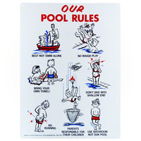 Poolmaster Our Pool Rules Sign 41335 - Sunplay