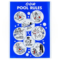 Poolmaster Our Pool Rules Sign 41336 - Sunplay