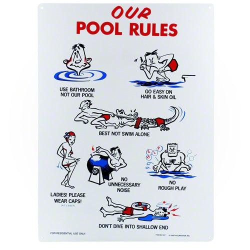 Poolmaster Our Pool Rules Sign 41337 Poolmaster 41337