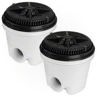 Pentair StarGuard Main Drain Complete 500116 - Black - Two Pack - Sunplay