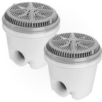 Pentair StarGuard Main Drain Complete 500118 - Gray - Two Pack - Sunplay