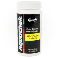 AquaChek High Range Chlorine Test Strips - 100 Strips - Sunplay