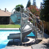 SR Smith Vortex Slide Closed Flume & Ladder - Gray Granite - Sunplay