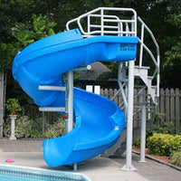 SR Smith Vortex Slide Closed Flume & Stairs - Blue - Sunplay