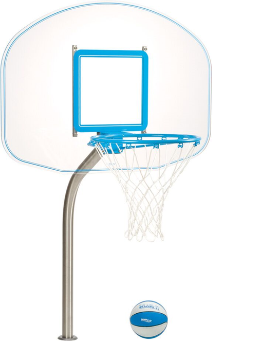 Dunn Rite Regulation Clear Hoop Basketball Set