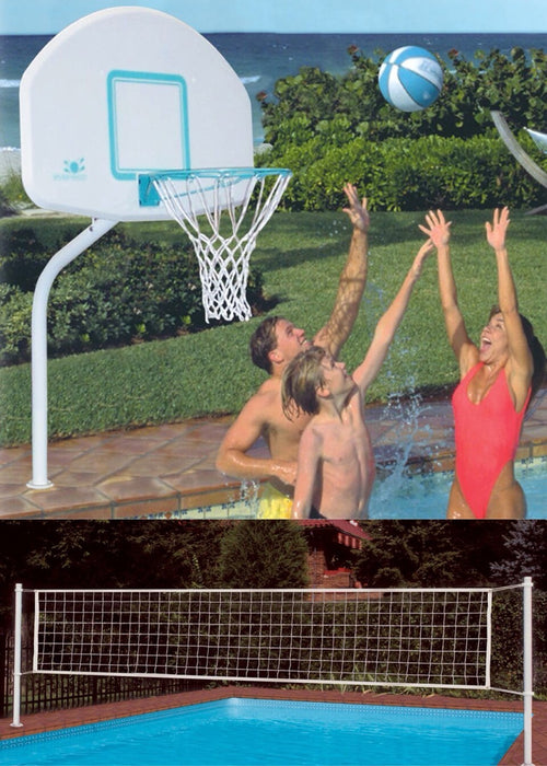 Dunn Rite Deck Combo Stainless Basketball and Volleyball Combo