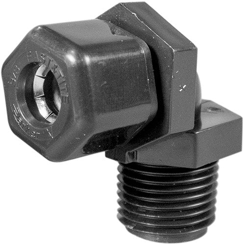 "Parker Elbow Compression Fitting - 1/2"" Thread x 3/8"" Tubing"