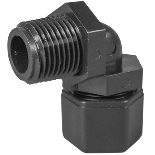 "Parker Elbow Compression Fitting - 1/2"" Thread x 1/2"" Tubing"