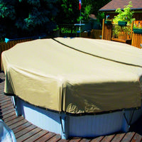 Yard Guard Ultimate Winter Cover 16' X 32' Oval - Sunplay