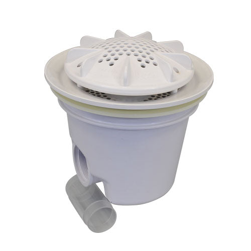 "A&A PDR2 10"" Drain with Sump - White - 564789"