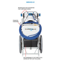 Hammer-Head Service-21 Pool Cleaner with 60' Cord - Sunplay