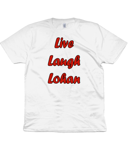 Live, Laugh, Lohan Unisex T-Shirt in Red