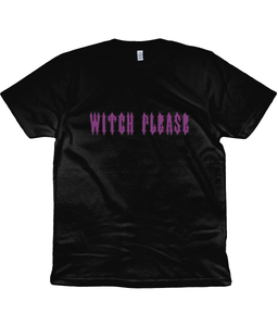 Witch Please Unisex T-Shirt in Purple Lettering