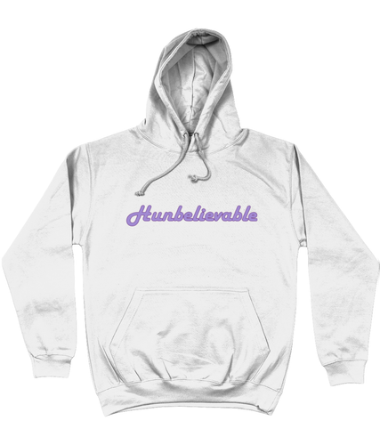 Hunbelievable Hoodie in Purple Lettering