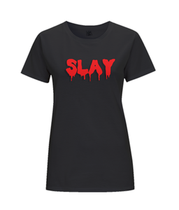 Slay Women's T-Shirt in Blood Red