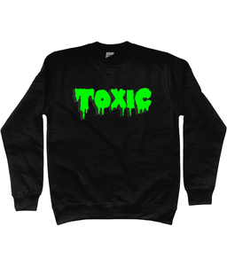 Toxic Sweatshirt in Radioactive Green
