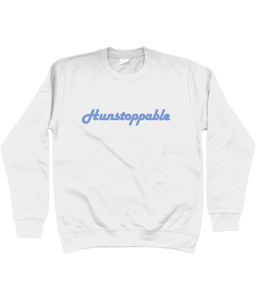 Hunstoppable Sweatshirt in Blue Lettering