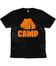 Camp Unisex T-Shirt in Orange Lettering