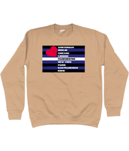 Black and Blue With Love Sweatshirt