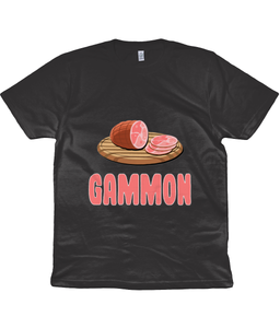 Gammon Unisex T-Shirt in Pink Lettering