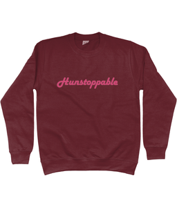 Hunstoppable Sweatshirt in Pink Lettering