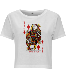Yas Queen of Diamonds Cropped T-shirt