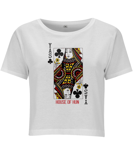 Yas Queen of Clubs Cropped Jersey T-shirt