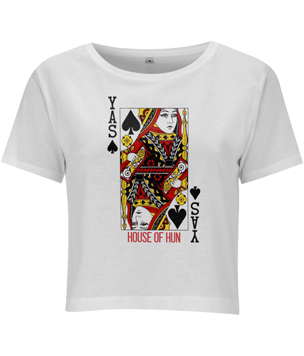 Yas Queen of Spades Cropped T-shirt