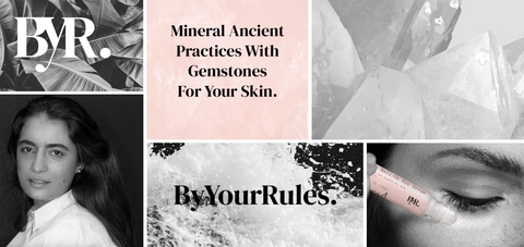 byyourrules rose quartz eye serum roller vegan